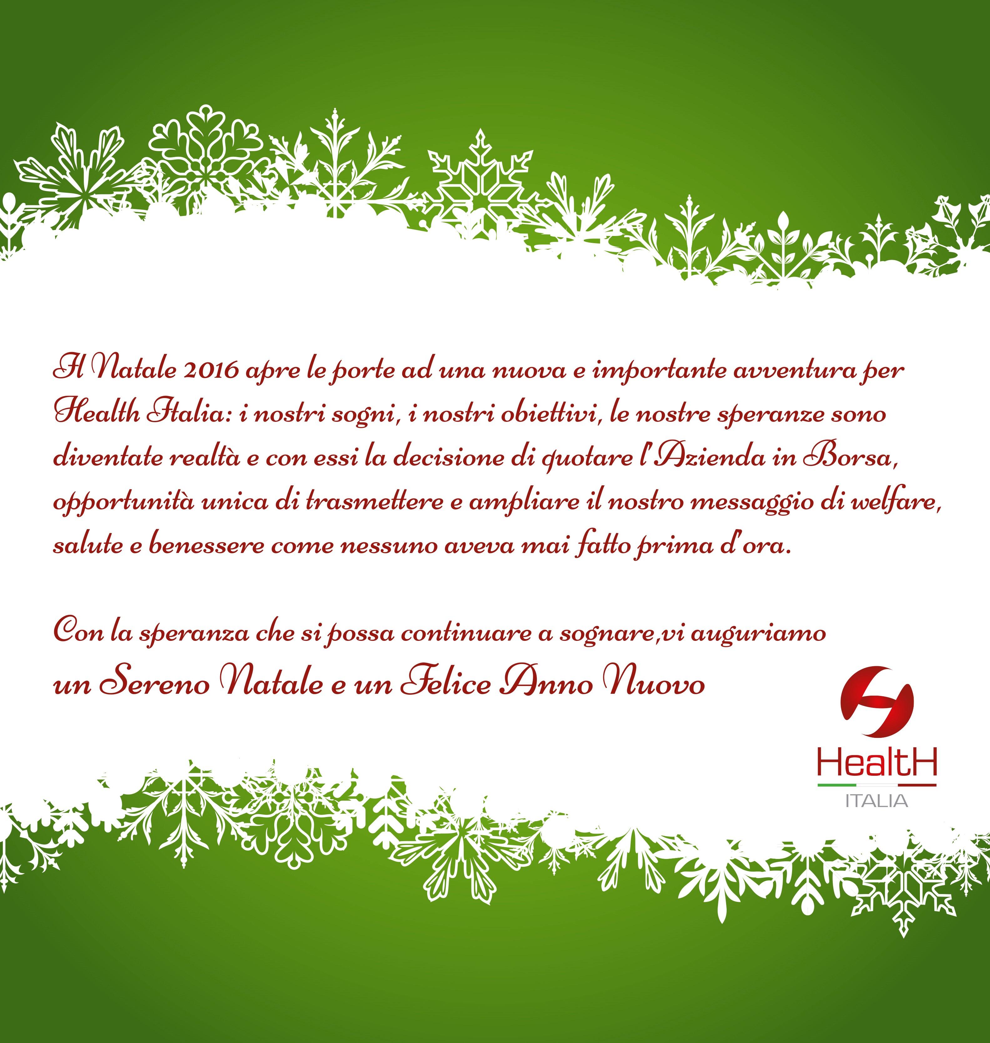 Buon Natale Italia.Buon Natale Healthitalia S P A